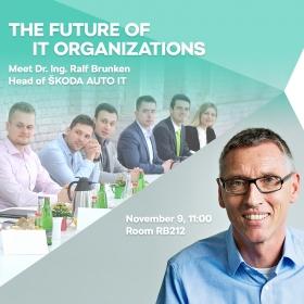 """Zvaná přednáška """"The Future of IT Organizations"""" – 9.11.2018 RB212"""
